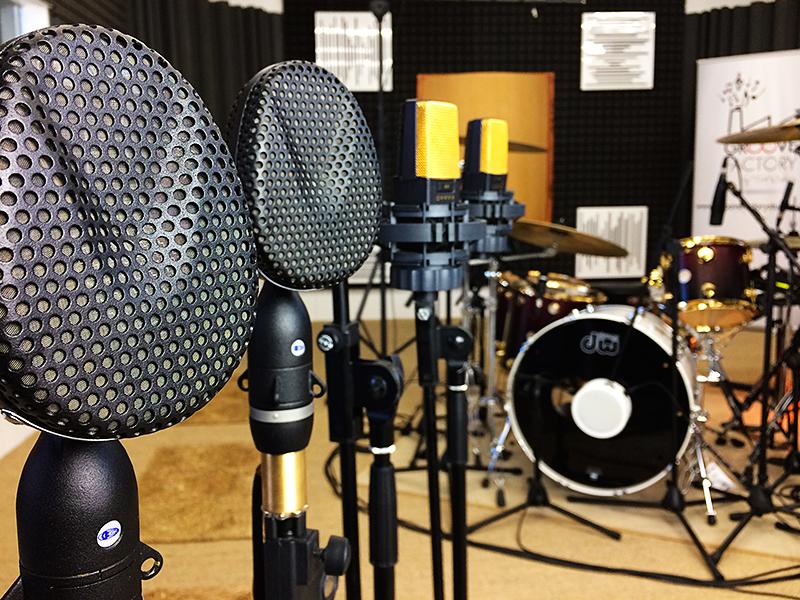 Micrófonos de estudio de grabación de baterías online