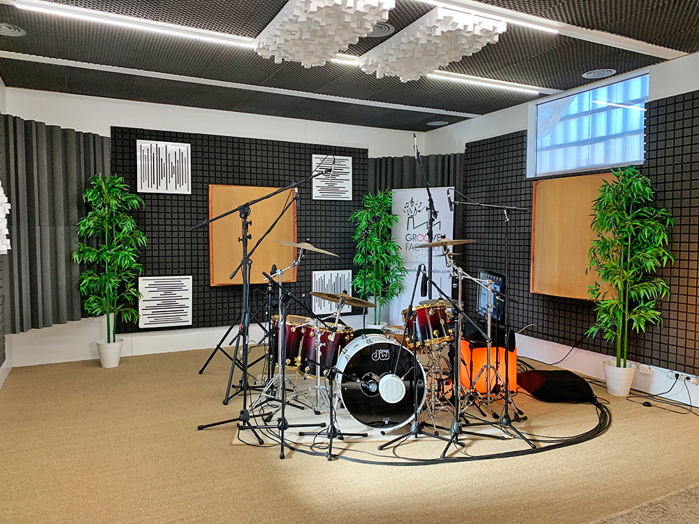 Sala de grabación de baterías online